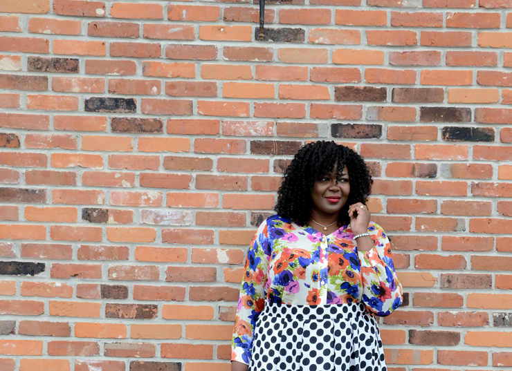 how to mix prints #Plussize style #mycurvesandcurls