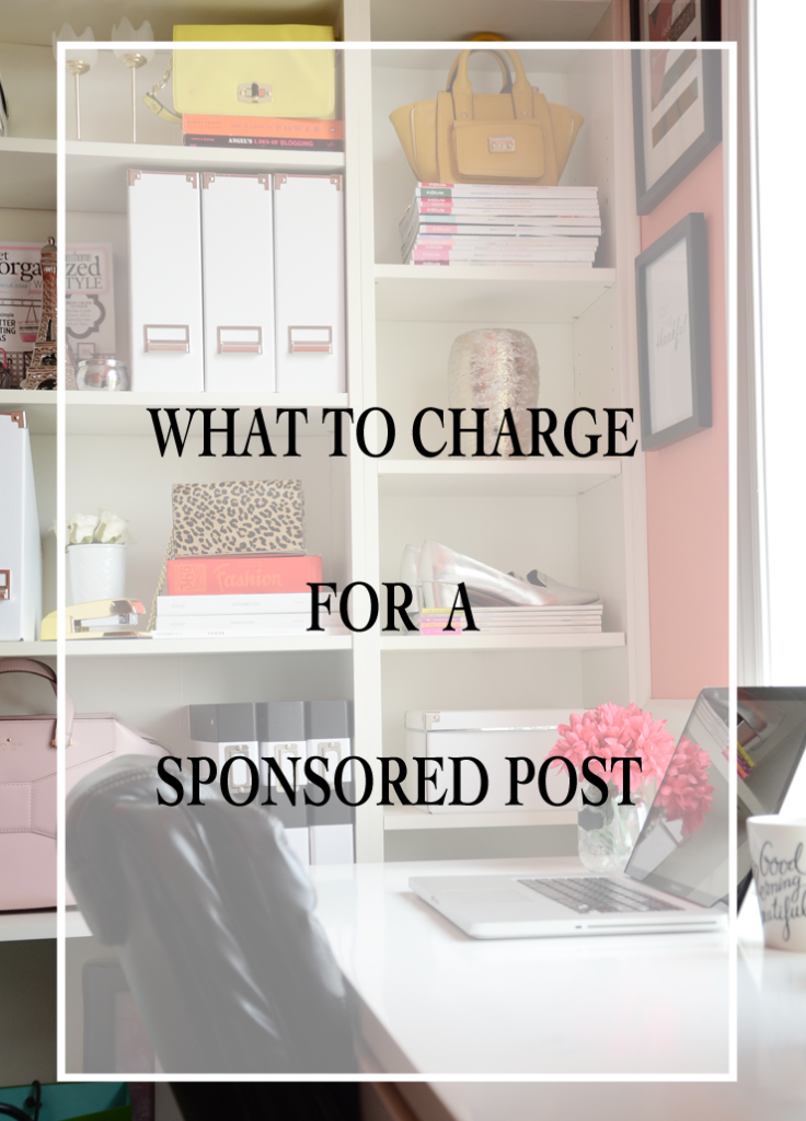 What should you charge for a sponsored post ?