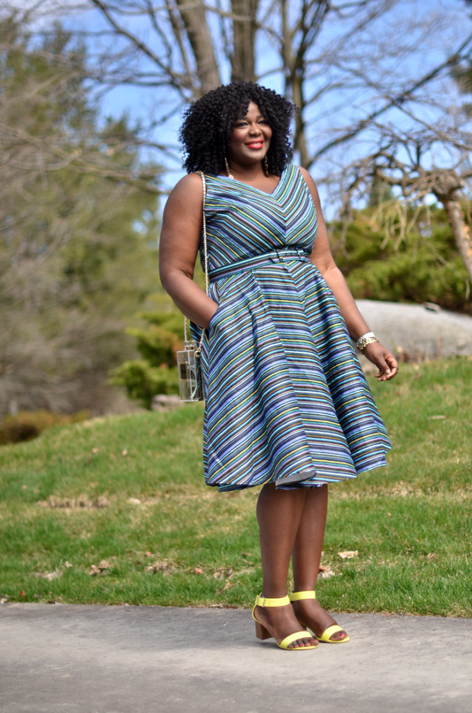 Fit and Flare dress from Pinup girl- plus size fashion blogger-mycurvesandcurls.com