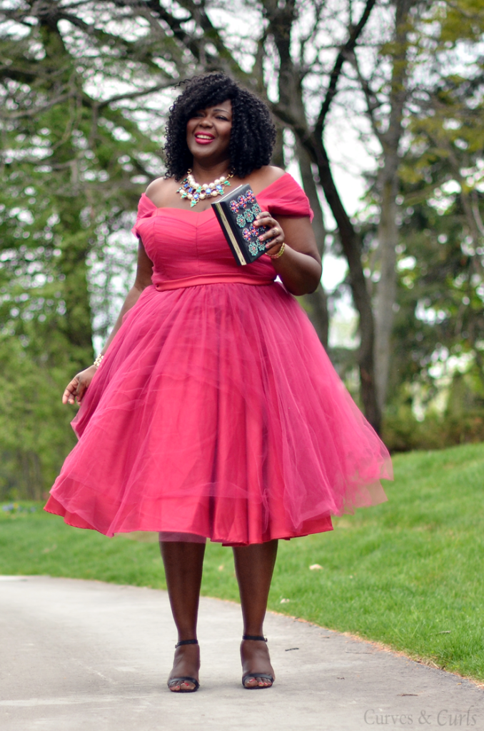 Tulle dress- PLus size canadian blogger