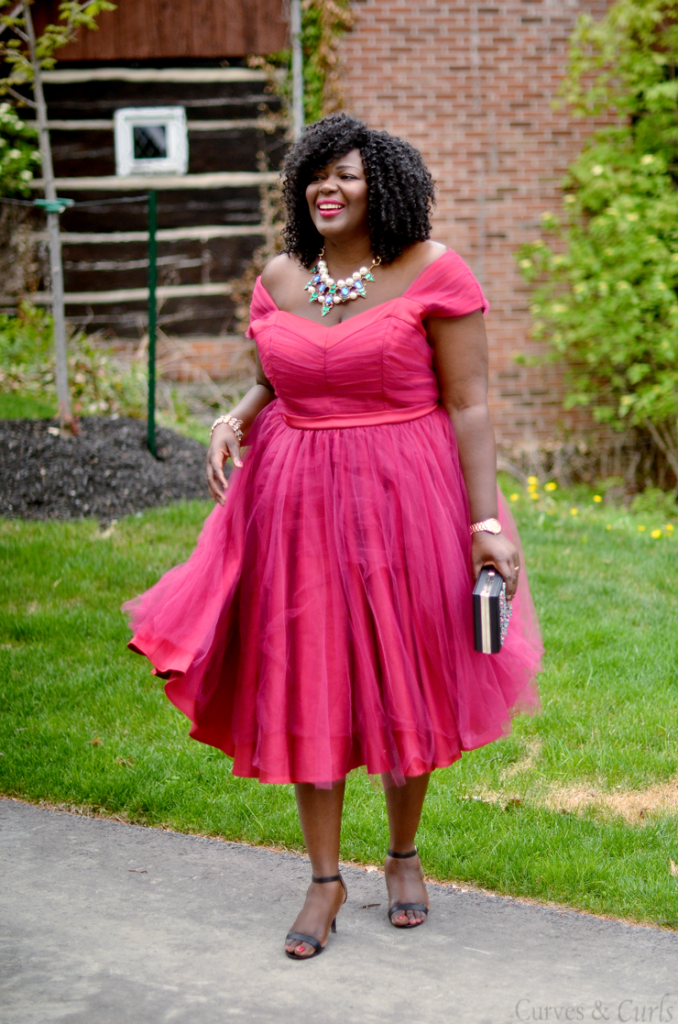 A plus size Tulle Dress- Plus size fashion blogger-Assa Cisse