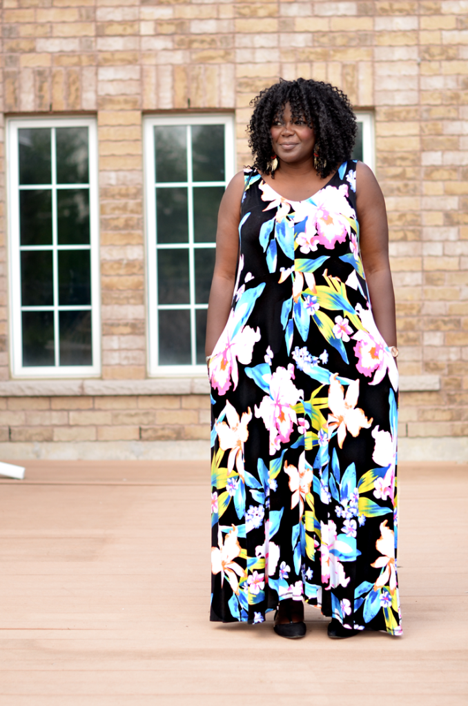 Floral Plus size maxi dress from Addition Elle -Tall plus size blogger