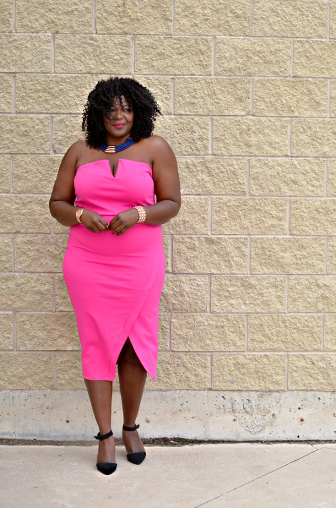 pink clubwear dress-mycurvesandcurls.com