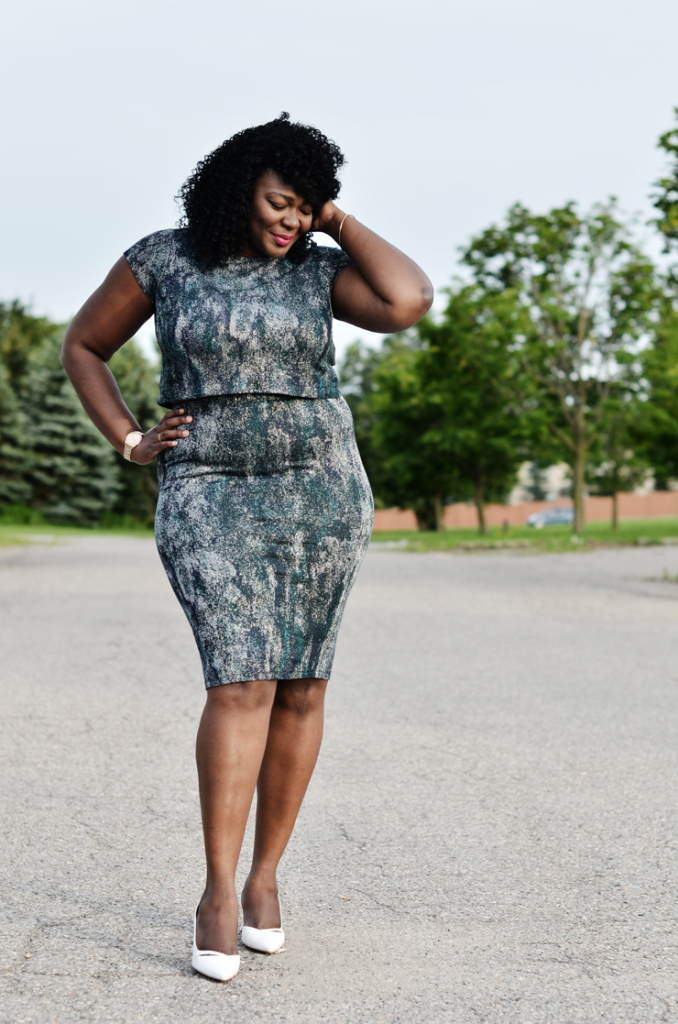 Plus size Matching separates- Canadian plus size blogger - Mycurvesandcurls.com