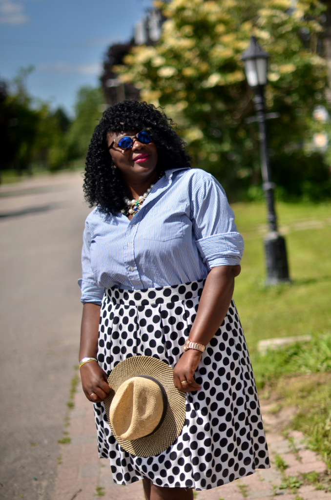 Mixing print- with stripes and dots- Assa Cisse