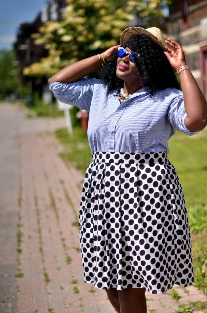 How to mix print and patterns-plus size fashion