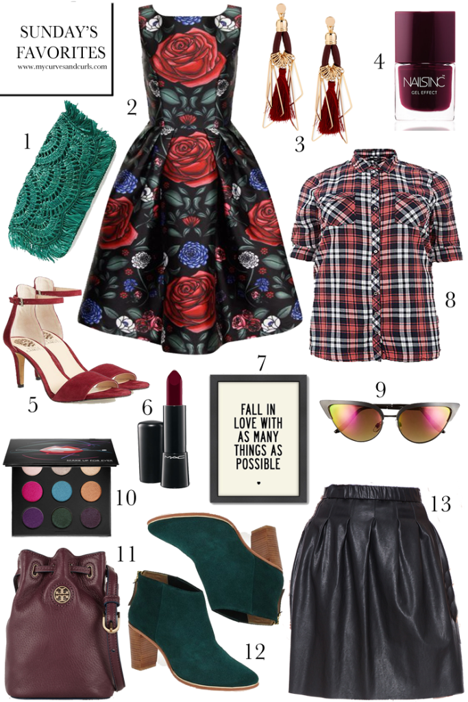 All clothing on this collage is plus size. Every items was picked with fall in mind. Visit mycurvesandcurls.com for details