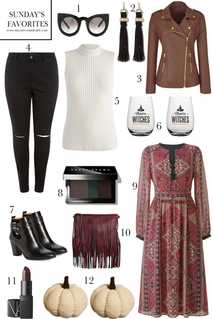 Plussize fashion items for #fall. The faux leather jacket goes up to US 28. Affordable plus size fashion, #style #curves #fallfashion .Click for direct links to each item