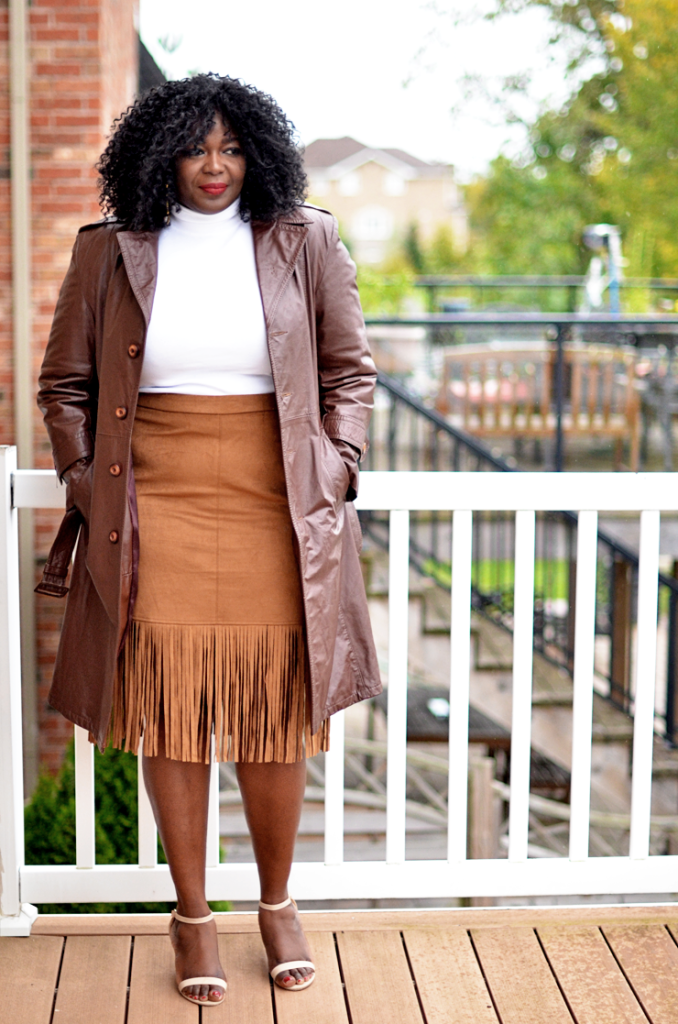 Fall outfit idea Fringe Skirt