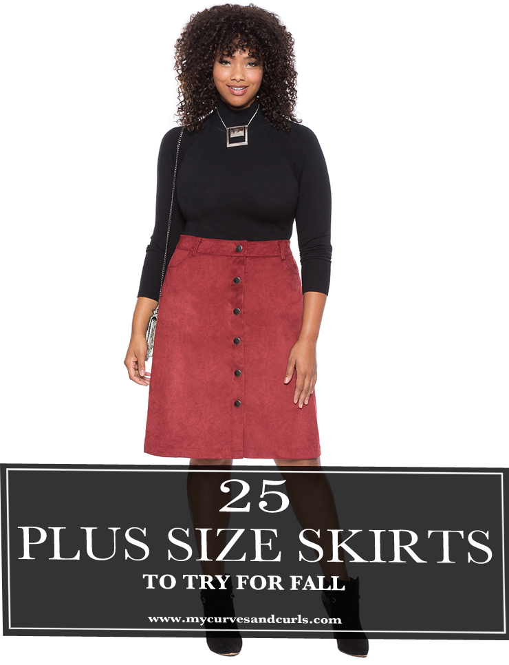 25 Plus Size Skirts to try this fall- mycurvesandcurls.com