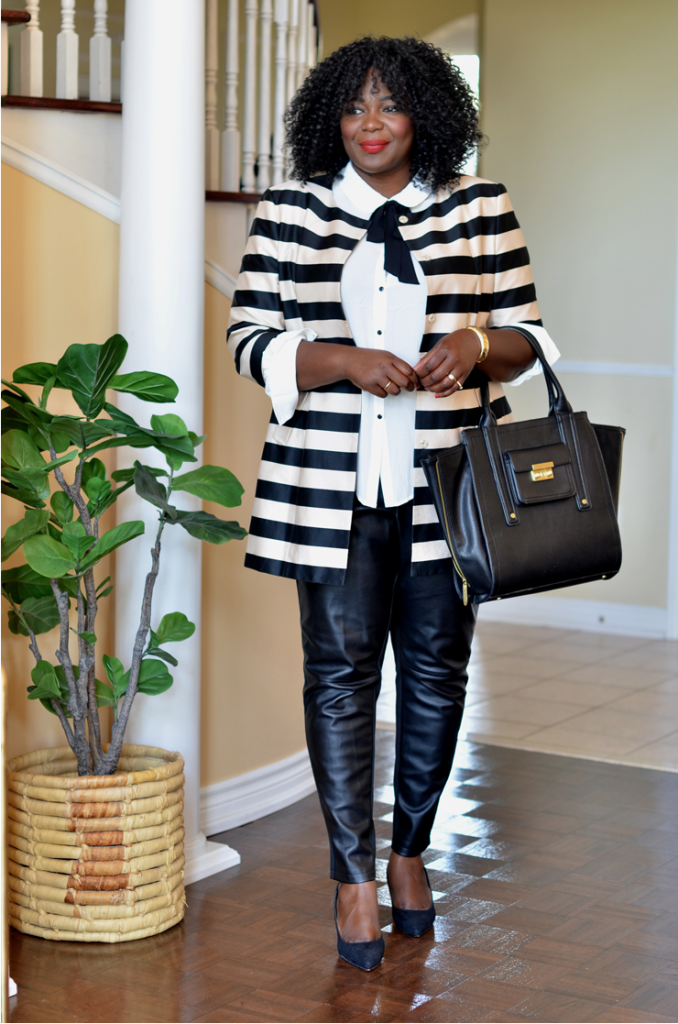 how to wear a faux leather pants #plussize #women #style