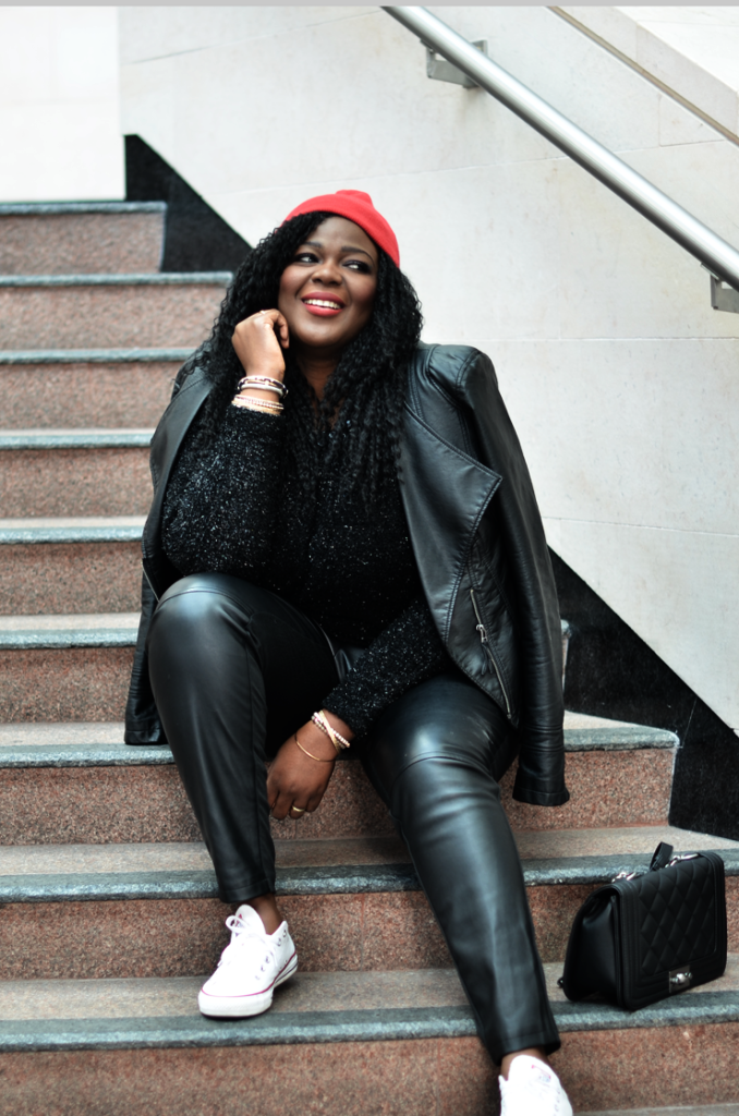 How To Wear Cropped Leather Pants For Fall- Plus size.