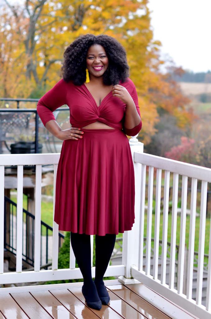 Plus size Convertible Dress- Assa cisse plus size canadian fashion blog