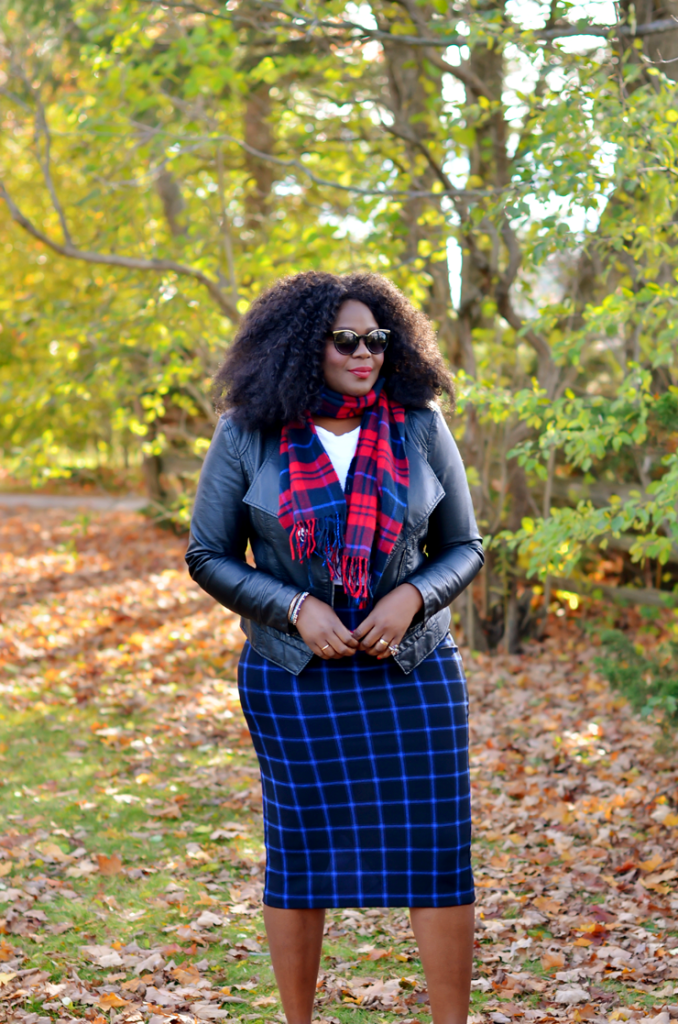 Plus size fall outfit inspiration: how to wear plaid on plaid