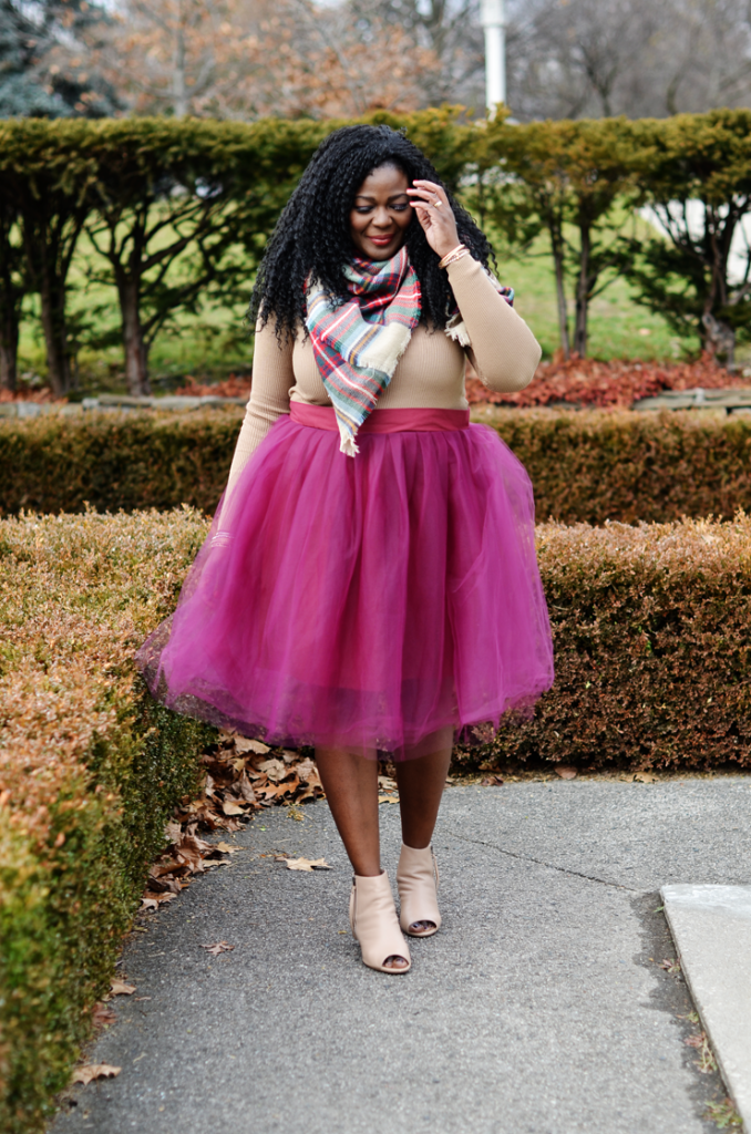 Plus size Tulle Skirt- How to wear a tutu skirt by Mycurvesandcurls.com