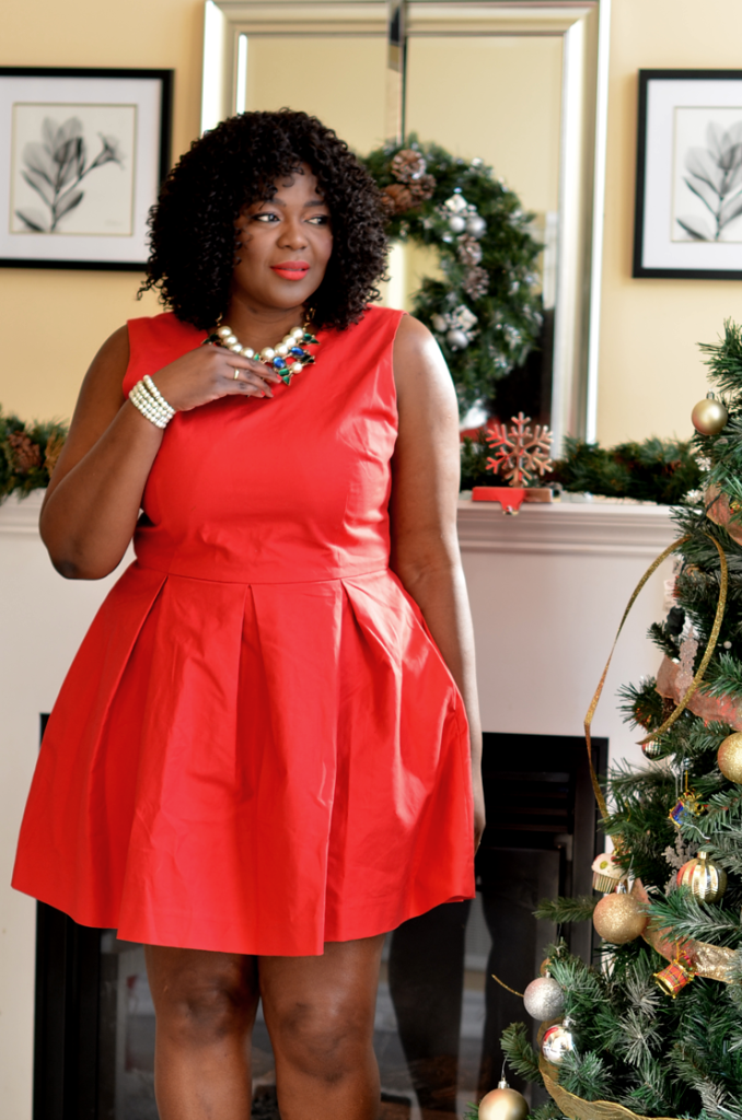 Fit and Flare Dress-plus size outfit ideas- holidays