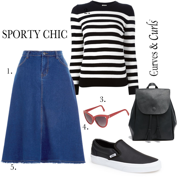 How To Wear A Denim Skirt- Plus outfit ideas