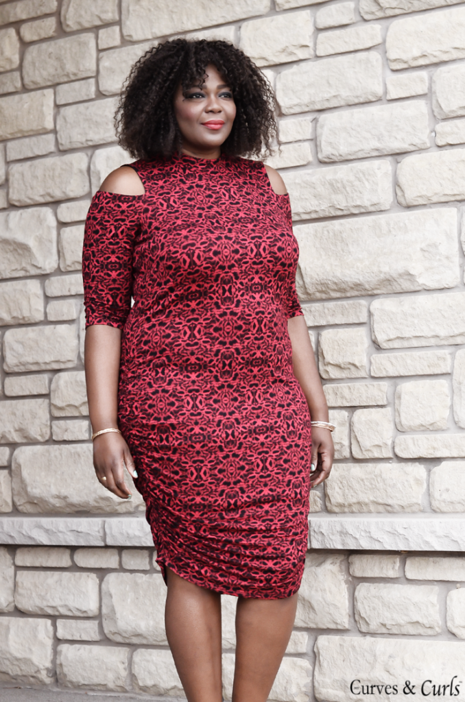 Affordable plus size dresses. Cold Shoulder Dress
