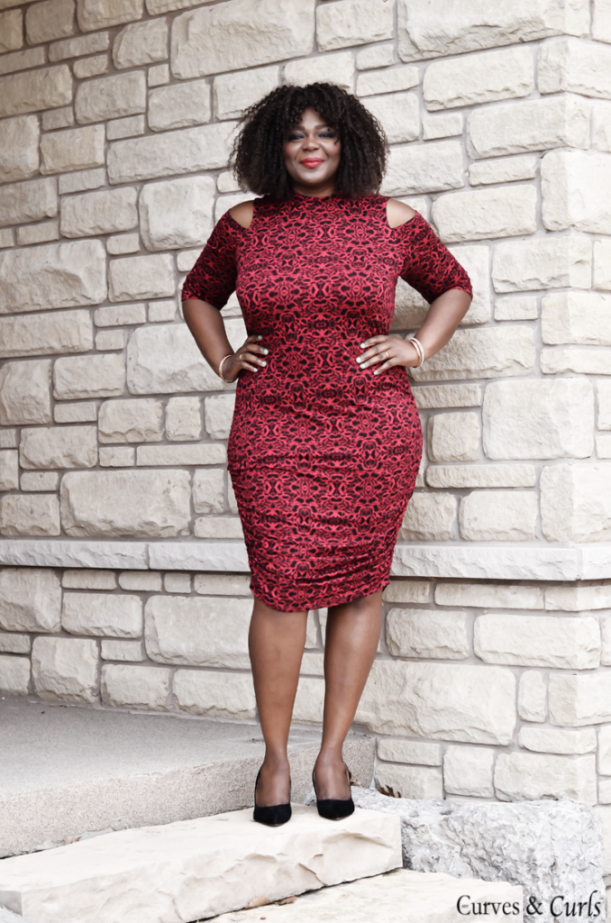 cut out shoulder dress-plus size-Canadian blogger