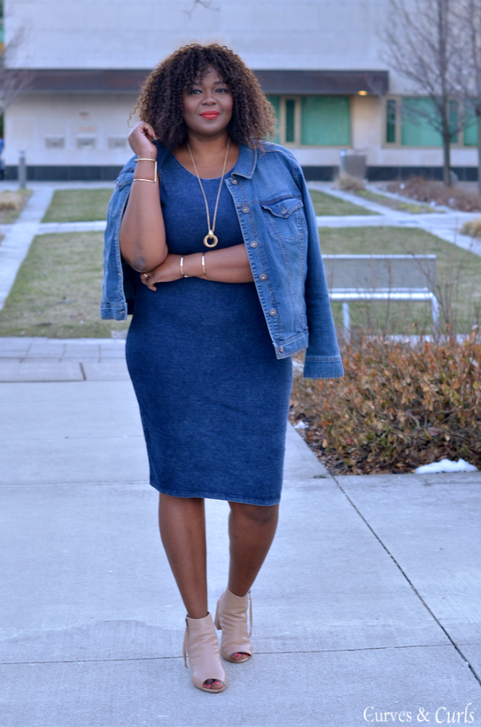 How to wear denim on denim- plus size edition -mycurvesandcurls.com