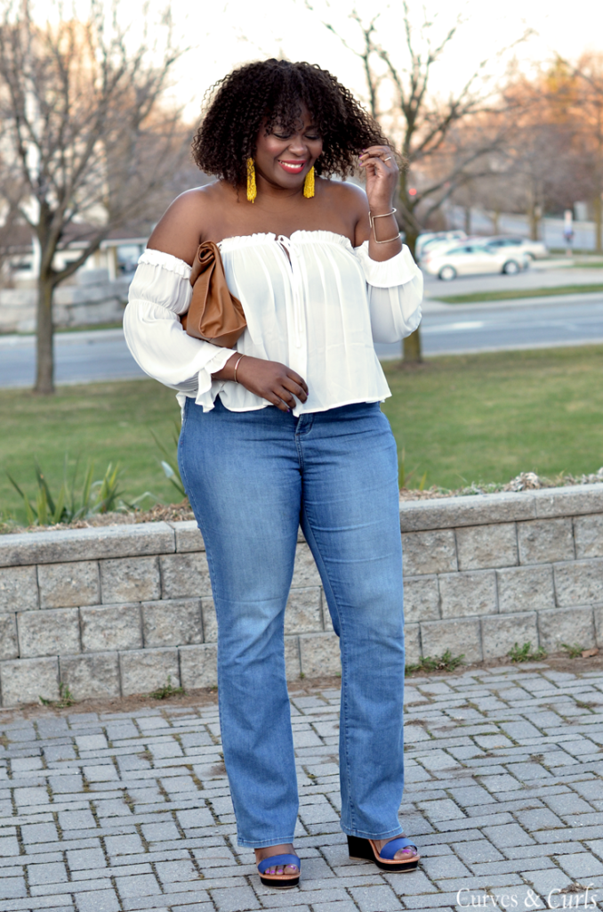 Off the shoulder top for plus size women